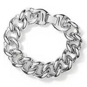 Banana Republic Chunky Chain Bracelet in Silver